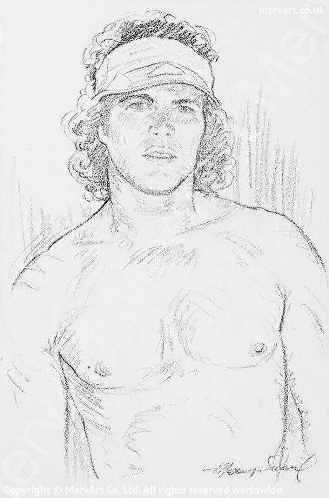 Bandana - Naked upper torso portrait Selected Image