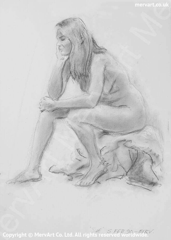 Christina - Completely naked and in deep thought Main Image