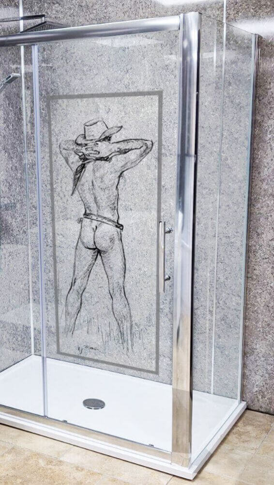 Hank - Sexy Butt Naked Cowboy Artwork Side Image