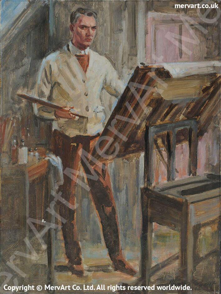 Mervyn Painting - Self portrait 1962 Main Image