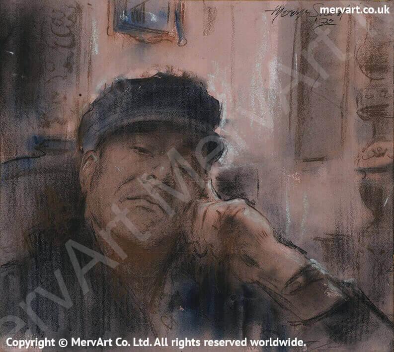 Mervyn sitting - Self portrait 1972 Main Image