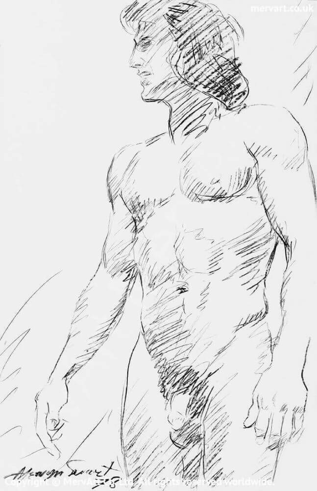 Roland - Nude male drawing Main Image