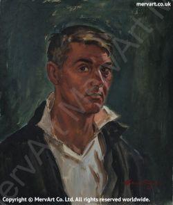 Mervyn Head & Shoulders - Self portrait 1964